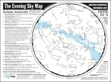 evening sky map